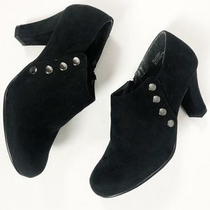 Aersoles Black Velvet Booties